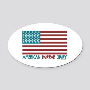 American Horror Story Flag Oval Car Magnet