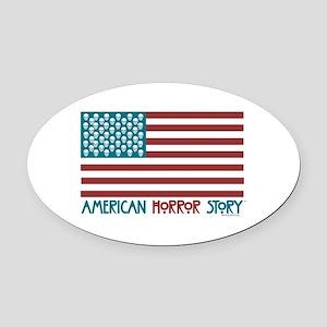 American Horror Story Flag Oval Car Magnet