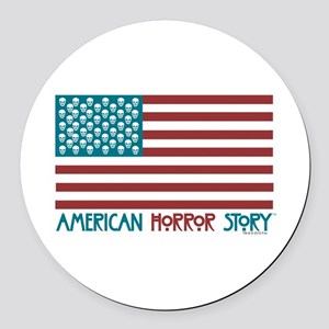 American Horror Story Flag Round Car Magnet