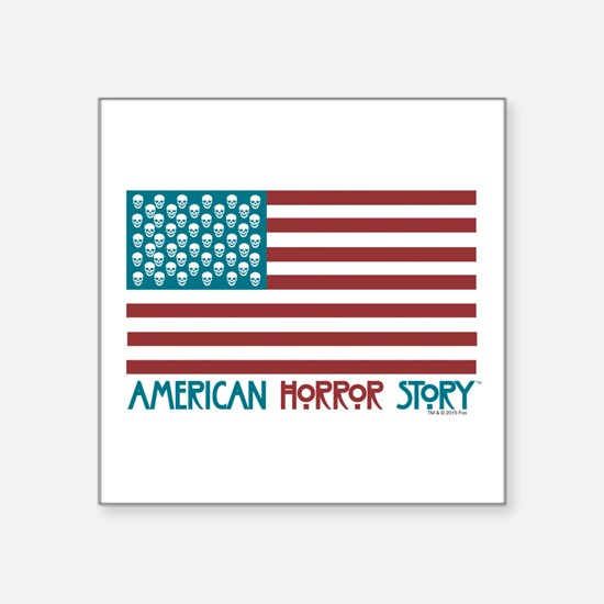 "American Horror Story Flag Square Sticker 3"" x 3"""