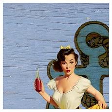 nautical anchor pin up girl Poster