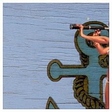 nautical sailor pin up girl Poster