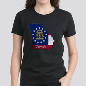 Georgia state flag Women's Dark T-Shirt