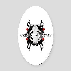 American Horror Story White Nun Ru Oval Car Magnet