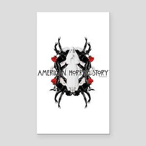American Horror Story White N Rectangle Car Magnet