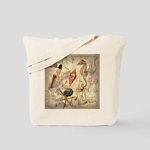 vintage nautical seashells sailor Tote Bag