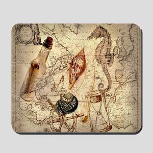 vintage nautical seashells sailor Mousepad
