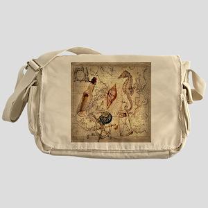 vintage nautical seashells sailor Messenger Bag