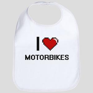 I Love Motorbikes Bib