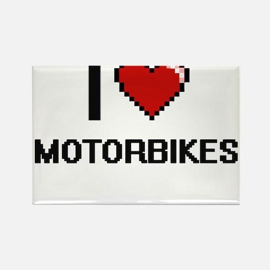 I Love Motorbikes Magnets