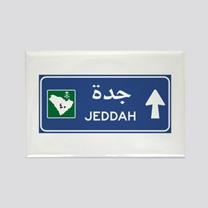 Jeddah Road Sign, Saudi Arabia Rectangle Magnet