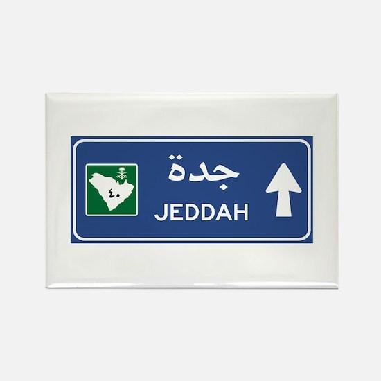 Jeddah Road Sign, Saudi Arabia Rectangle Magnet