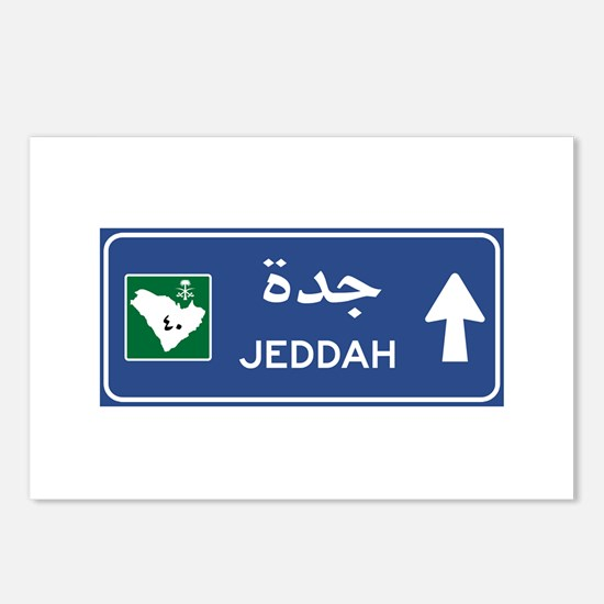 Jeddah Road Sign, Saudi A Postcards (Package of 8)