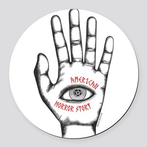 American Horror Story Hand Round Car Magnet