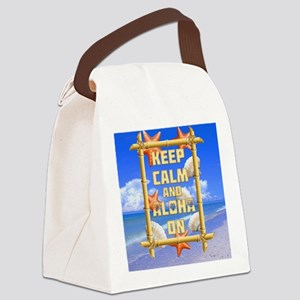 Keep Calm And Aloha On Canvas Lunch Bag