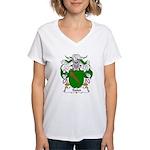 Sales Family Crest Women's V-Neck T-Shirt