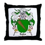 Sales Family Crest Throw Pillow