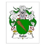 Sales Family Crest Small Poster