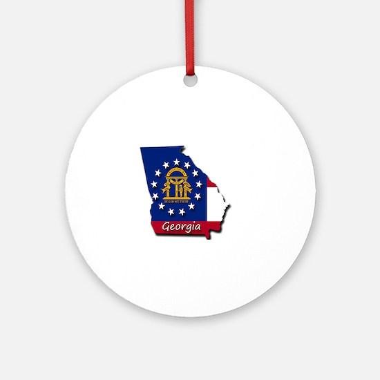 Georgia state flag Round Ornament
