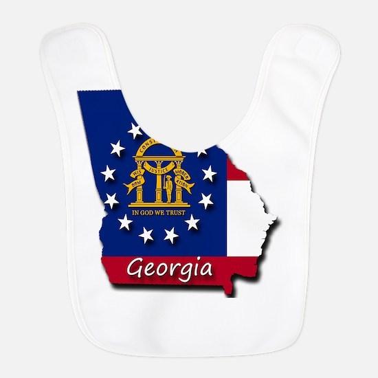 Georgia state flag Bib