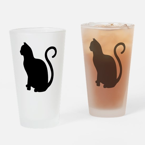 Cute Cat design Drinking Glass