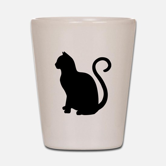 Cute Black kitties Shot Glass