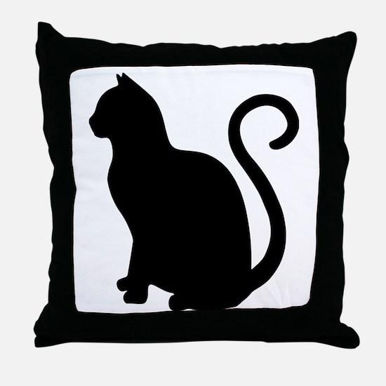 Unique Cat design Throw Pillow