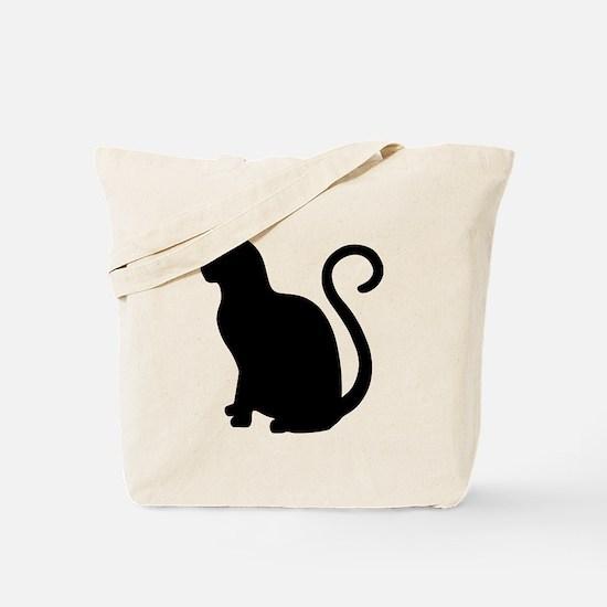 Cool Black cat design Tote Bag