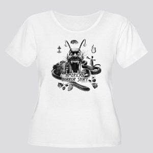 American Horr Women's Plus Size Scoop Neck T-Shirt