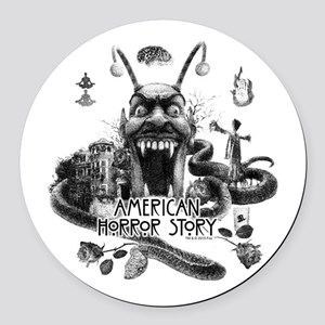 American Horror Story Scenery Round Car Magnet