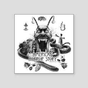 """American Horror Story Scene Square Sticker 3"""" x 3"""""""