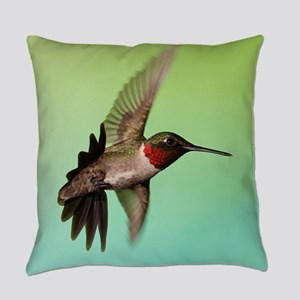 Ruby-Throated Hummingbird Everyday Pillow