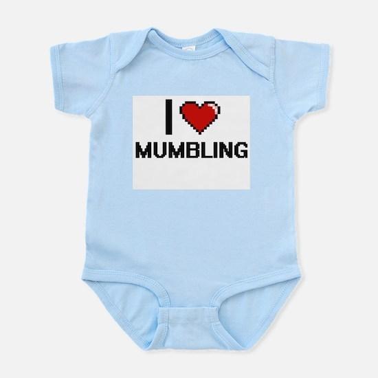 I Love Mumbling Body Suit