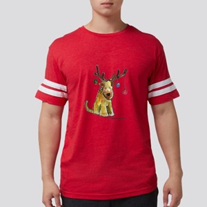 Wheaten terrier with Christmas Antlers T-Shirt