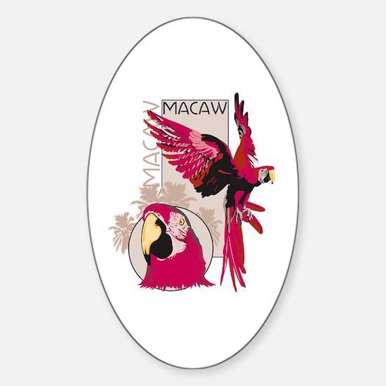 Red Macaw Sticker (Oval)