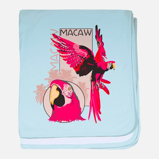 Red Macaw baby blanket