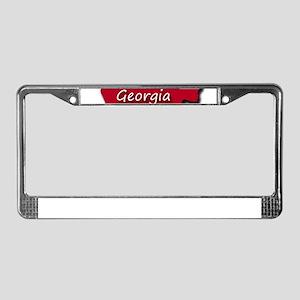 Georgia state flag License Plate Frame