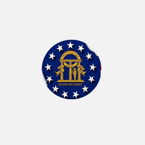 Georgia state flag Mini Button