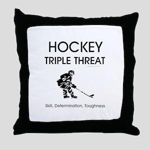 TOP Ice Hockey Slogan Throw Pillow