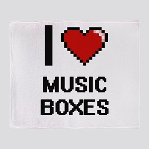 I Love Music Boxes Throw Blanket