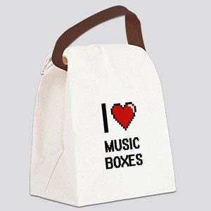 I Love Music Boxes Canvas Lunch Bag