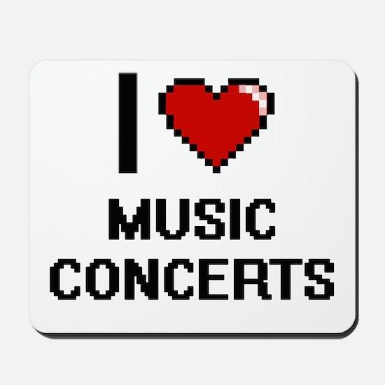 I Love Music Concerts Mousepad