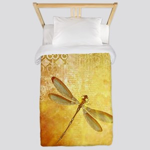 Golden dragonfly Twin Duvet