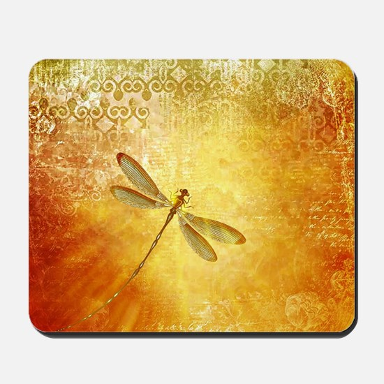 Golden dragonfly Mousepad