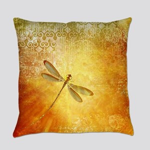 Golden dragonfly Everyday Pillow