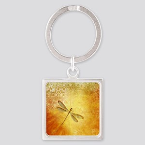 Golden dragonfly Keychains