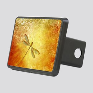 Golden dragonfly Rectangular Hitch Cover