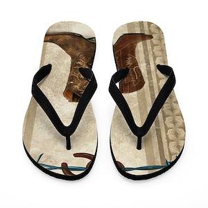 c30ca324d47c92 Cowboy Flip Flops - CafePress