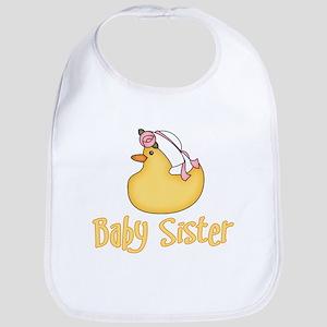 Yellow Duck Baby Sister Bib