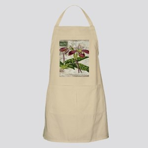 vintage french botanical orchid Apron